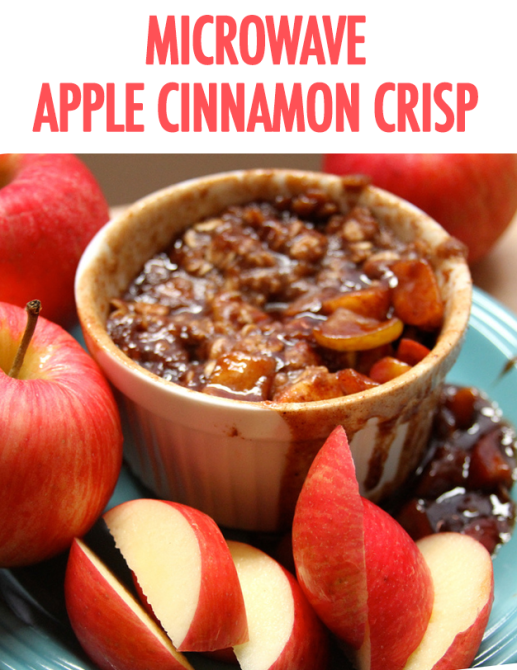 Microwave Apple Cinnamon Crisp