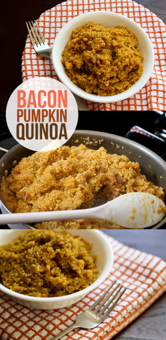bacon pumpkin quinoa