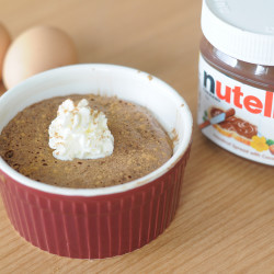 2 Ingredient Nutella Soufflé
