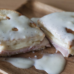 Super Sophisticated Croque Monsieur with Microwave Béchamel