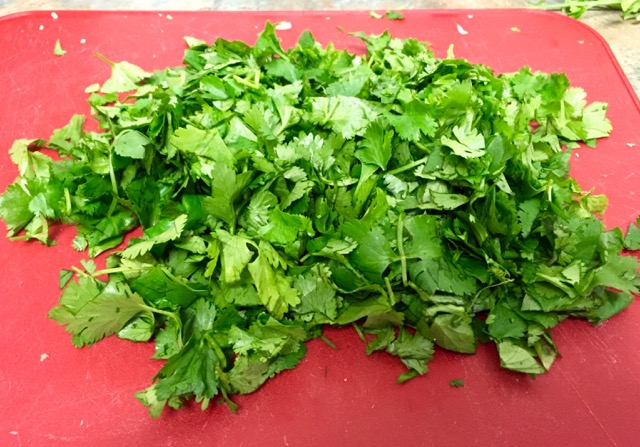 Look at all of that cilantro goodness