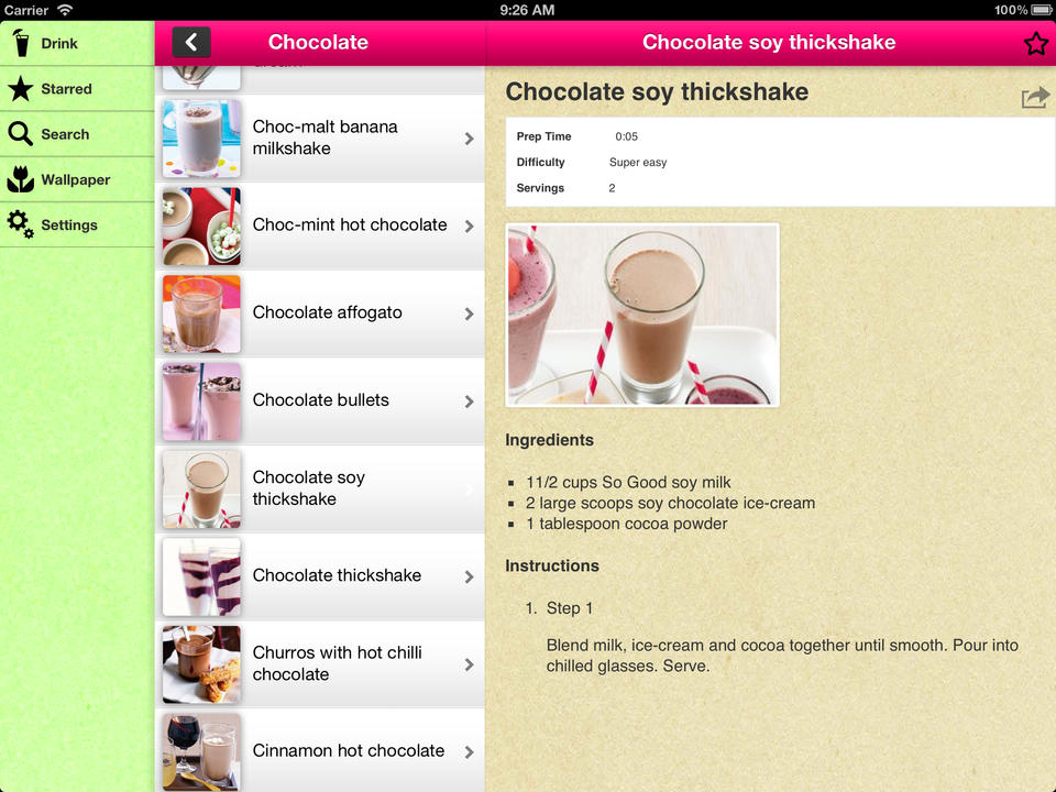 Drink Recipes by App Annie