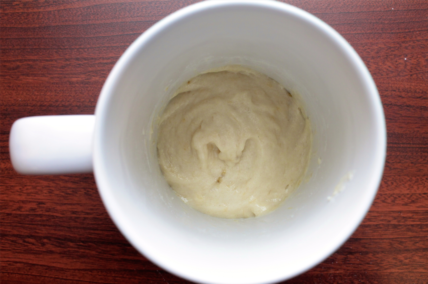 Start your morning with this 5 minute coffee mug cake for 1 tablespoon of butter