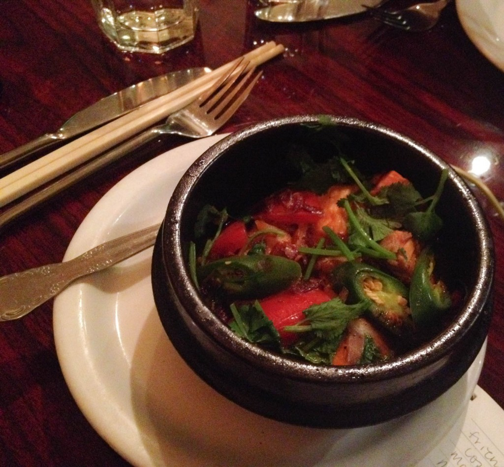 Atlantic Salmon stewed in a claypot | Photo by Thuong Nguyen