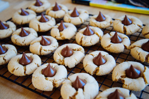 Peanut Butter and Chocolate Kiss Cookies to Mend the Soul