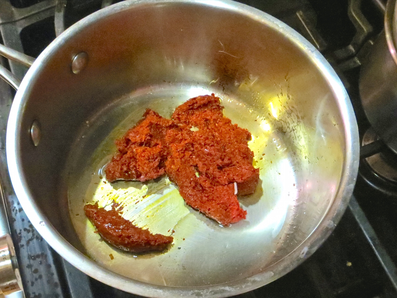 Sauté 1/2 cup of Panang Curry Paste in a about 2 tablespoons of ...