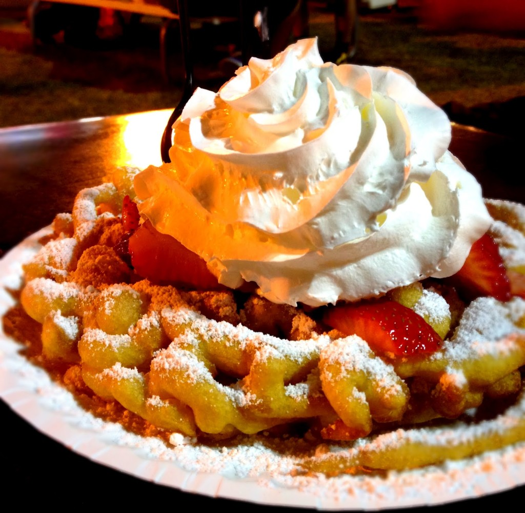 Funnel Cake With Whip Cream