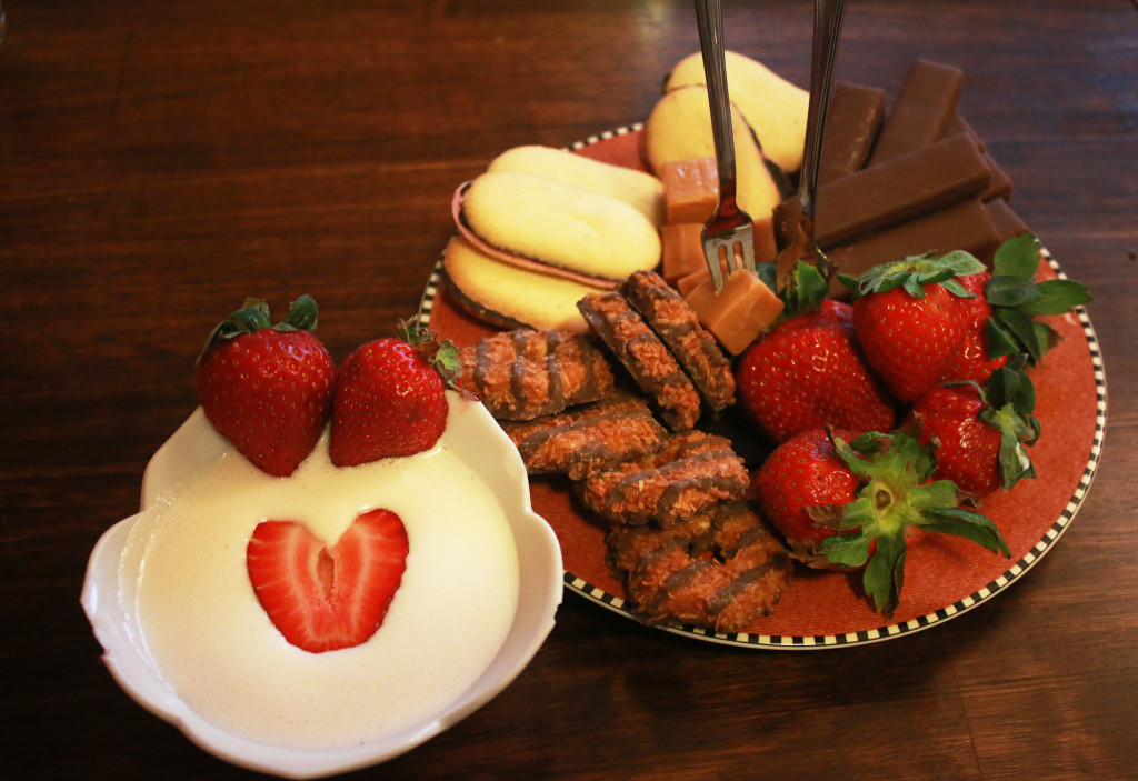 Valentine's Day Fondue Plate