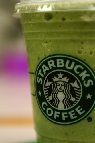 how to order green tea frappuccino starbucks