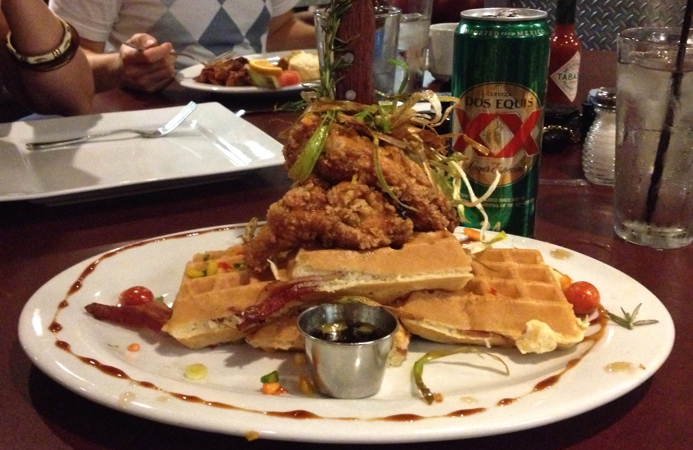 Hot Mess Chicken and Waffles