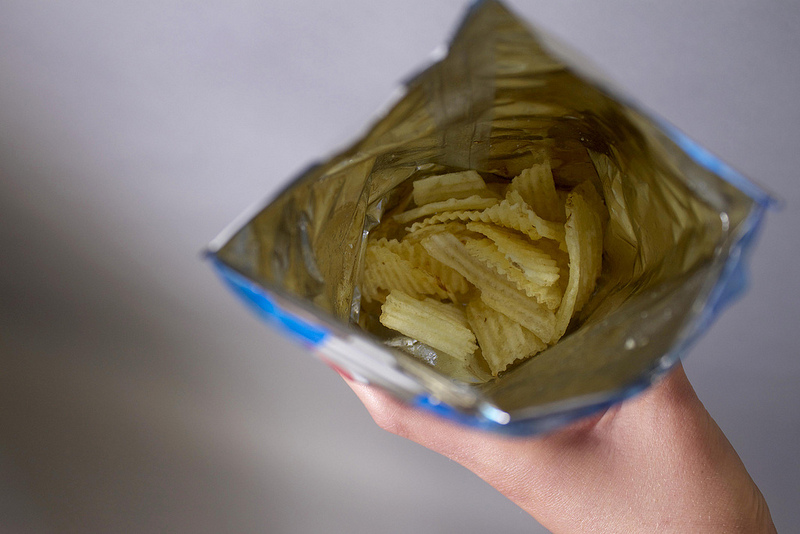 Just what I wanted, a bag of air with a hint of chip. Photo by Meredith Marcus