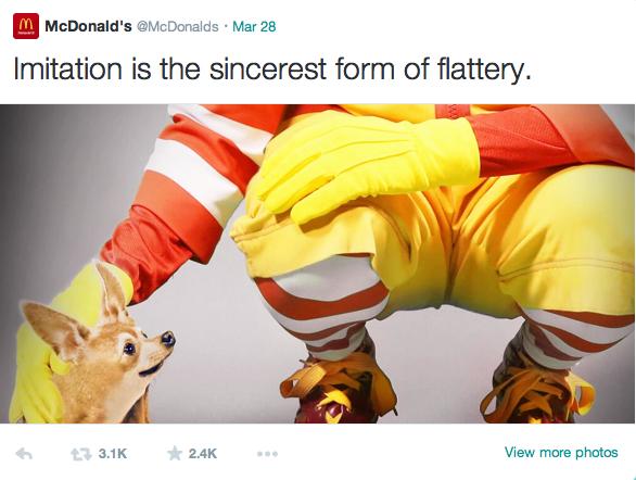 @McDonalds via Twitter