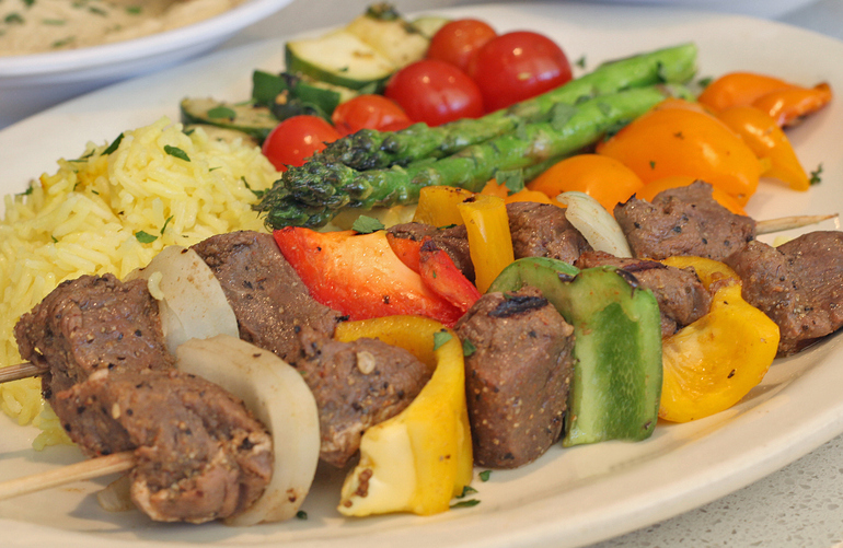 Shish Kebobs // Photo courtesy of Cedars Mediterranean Kitchen