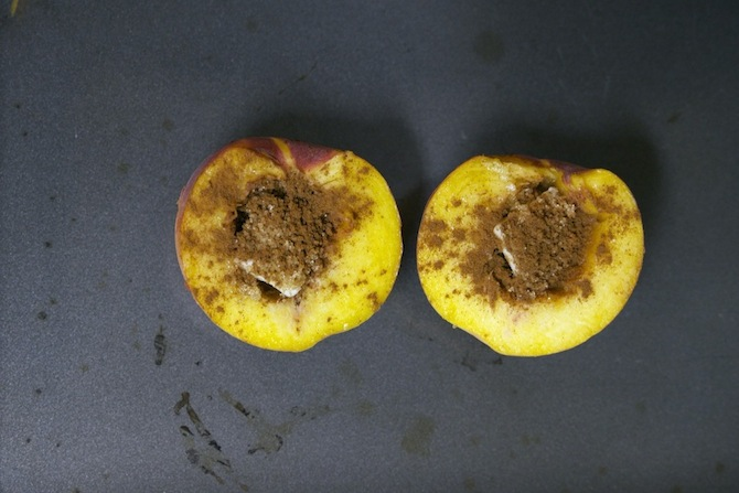 baked peach recipe