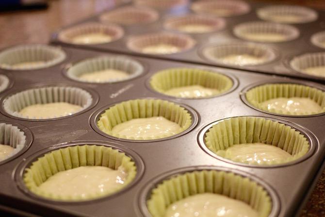 Malibu rum cupcake