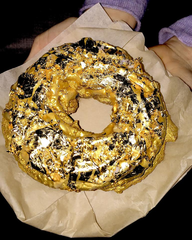 golden donut