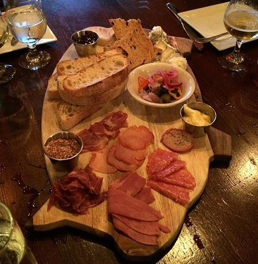 charcuterie, assorted cheese, pickles, seasonal accompaniments, breads ($24)