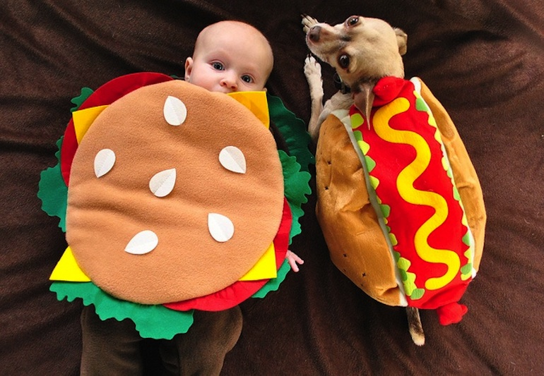 Newborn Hot Dog Costume
