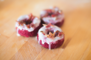 These Boozy Bacon Red Velvet Doughnuts Will Spice Up Any Brunch