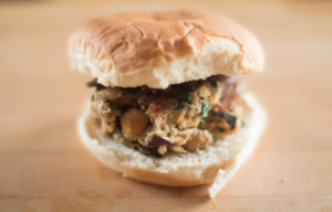 Ditch the Beef and Make This Vegan Chickpea Mushroom Burger Instead