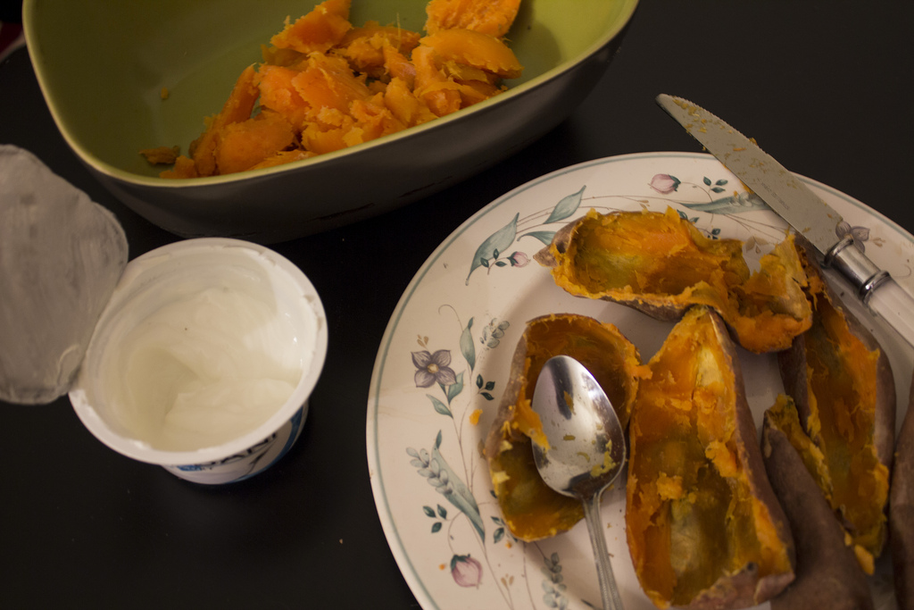 Healthy Twice Baked Sweet Potatoes