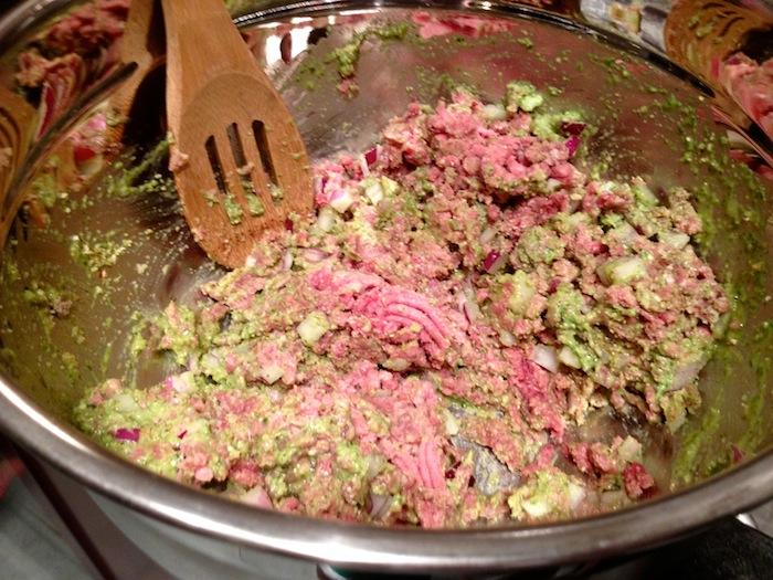Pesto Beef Meatballs