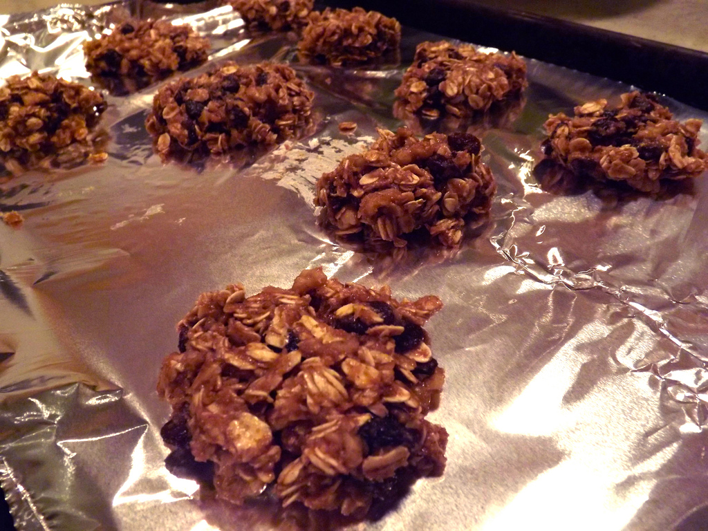 Loaded Vegan Oatmeal Raisin Cookies