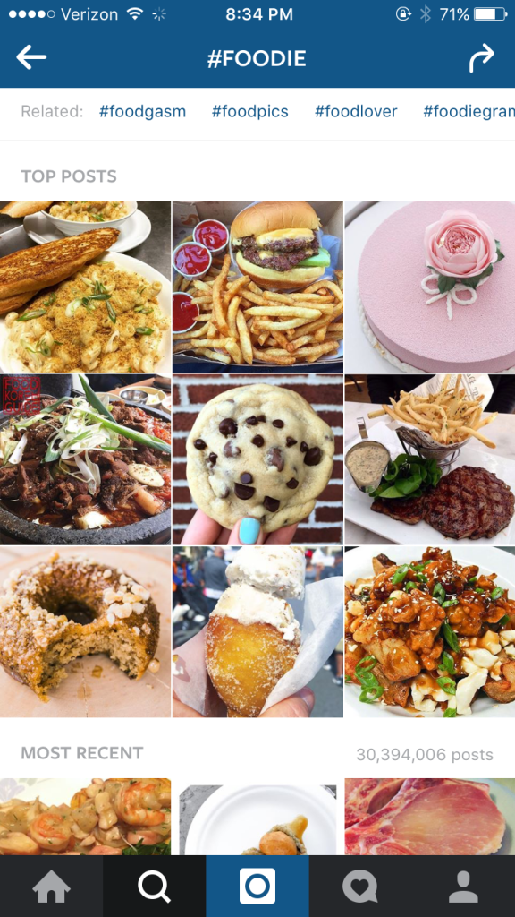 8 tips for starting your own food instagram account instagram pin it photo courtesy of instagram following other foodie accounts forumfinder Images