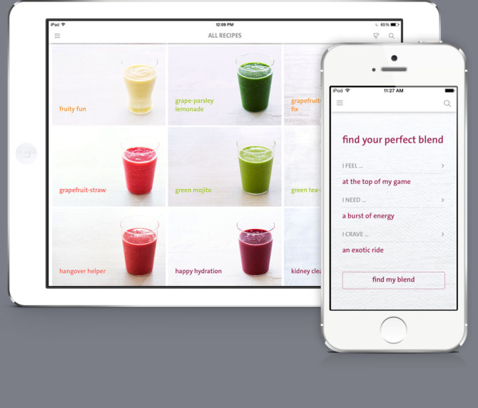 The Blender Girl smoothies app