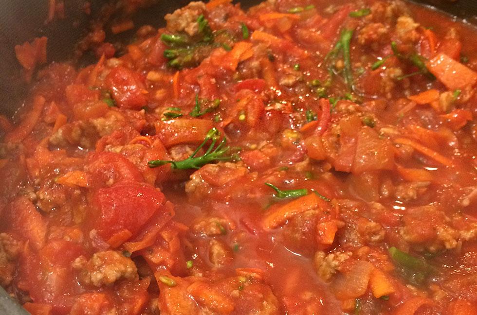 turkey vegetable spaghetti sauce