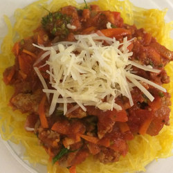 Spaghetti Squash & Saucey Sauce