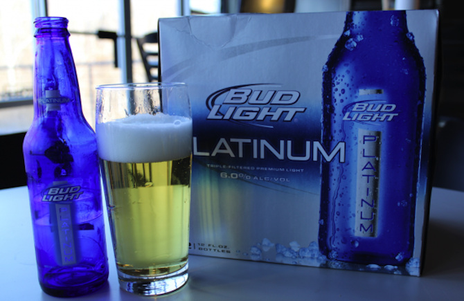 Bud Light Platinum. Beer