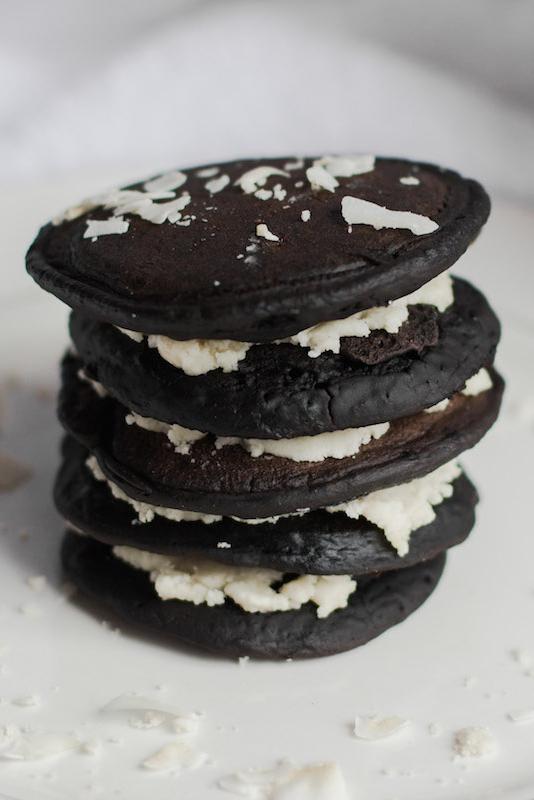 Homemade Vegan Oreo Pancakes