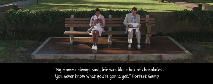 the box of chocolates as a symbol of the unpredictability of life in forrest gump Forrest gump is drama about a man who experiences a number of significant historical event incidentally, his focus more on the love of his only girl and the wonder of life itself a box office success and multiple award-winner, it is considered by many to be one of the greatest films of all time.