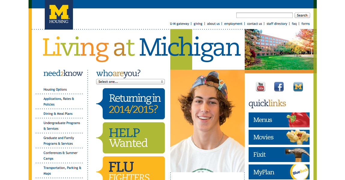 Photo courtesy of the University of Michigan Housing website