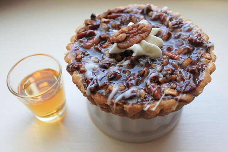 spiked bourbon pecan pie