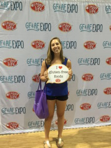 Me at the Gluten Free Expo, Photo Courtesy of Jim Heger