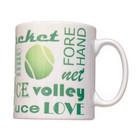Tennis Text Mug