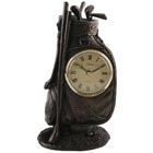 Juliana Golf Bag Bronze Finish Clock