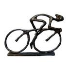 Racing Cyclist Metal Figurine