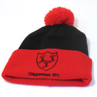 Chippenham Rugby Bobble Beanie Hat - Black/Red