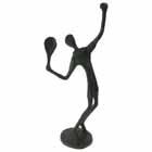 Tennis Player Metal Figurine