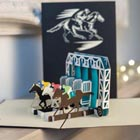 Horse Racing Pop-Up Card