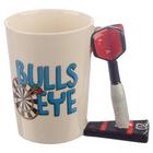 Darts Bulls Eye Shaped Handle Mug