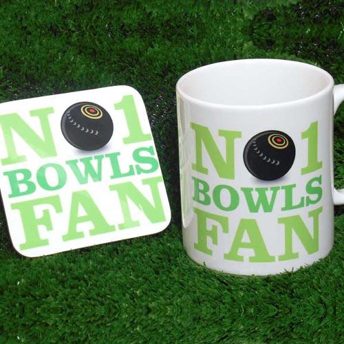 No 1 Bowls Fan Mug and Coaster Set