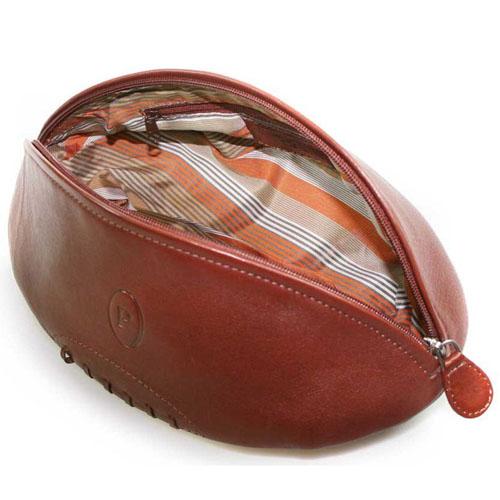 Portland Leather Rugby Ball Wash Bag