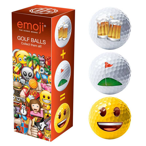 Emoji Golf balls (Beer/Golf/Happy)