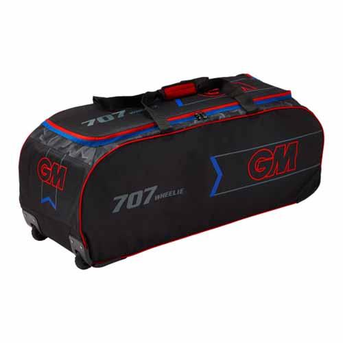 GM 707 Wheelie Cricket Bag - Black/Red