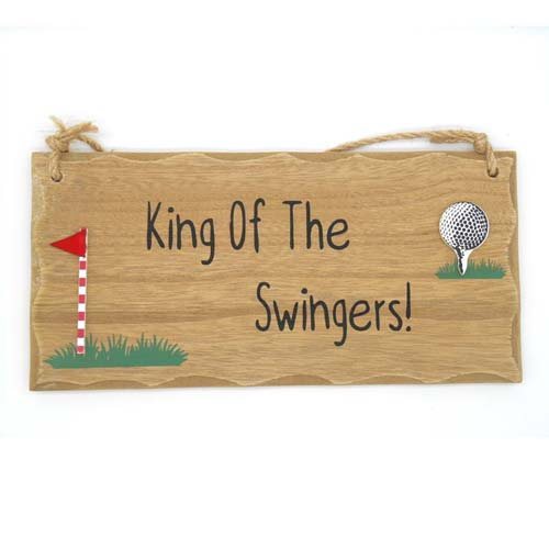 King Of The Swingers Golfing Plaque