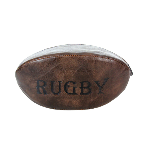Portland Rugby Ball Wash Bag - Dark Brown